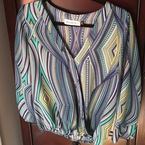 Printed Veronica M Blouse, Size Small, NWOT